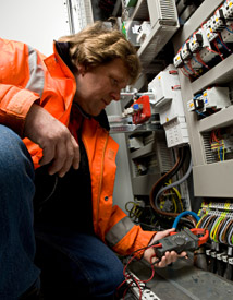 Electrical works carried out to NIC regulations